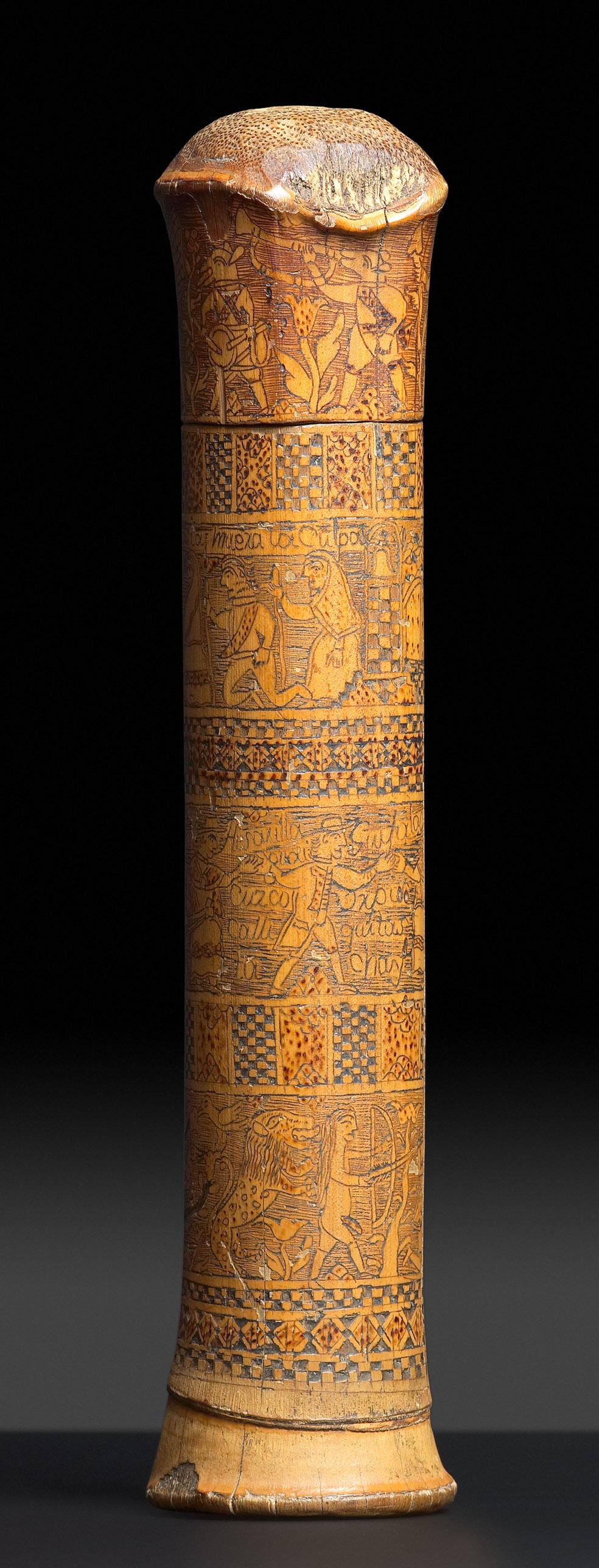 39- Caixa colonial de bambu 2