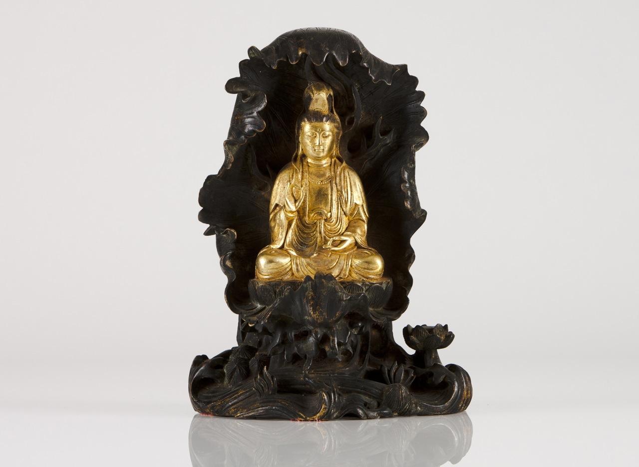 80- Buda em bronze dourado